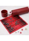 3-in-1 checker,backgammon and chess in cylindrical case